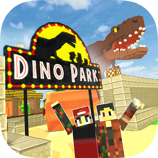 Dino Theme Park Craft Ride Dinosaur Rollercoaster —